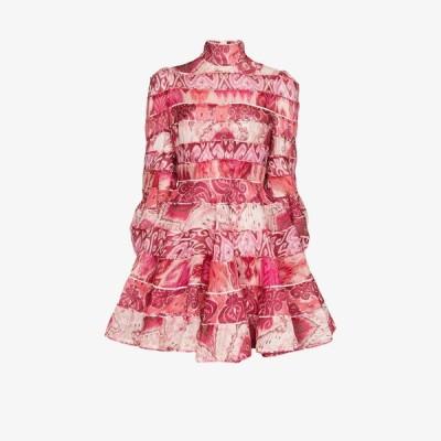 ジマーマン Zimmermann レディース ワンピース ミニ丈 ワンピース・ドレス Ikat print mini dress pink