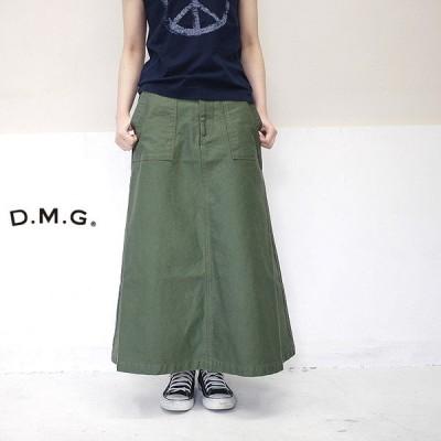 ドミンゴ DMG D.M.G 17-409T フィールド バック サテン ベーカー オールド スカート