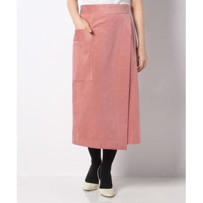 ANAYI/アナイ コーデュロイラップスカート ピンク1 34