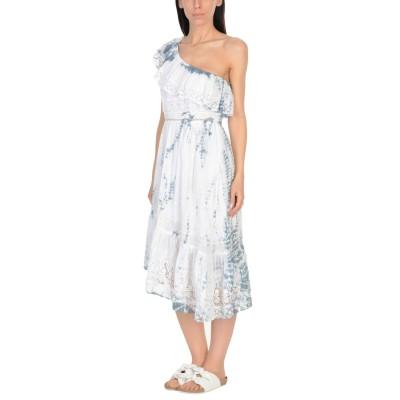 LOVESHACKFANCY ビーチドレス ホワイト M コットン 100% ビーチドレス
