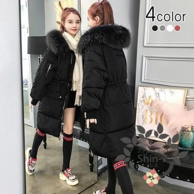 中綿ダウンコート 中綿コート ロングコート レディース 中綿ジャケット 膝下丈 ファーフード あったか 冬新品 大きいサイズ 4色選択できる