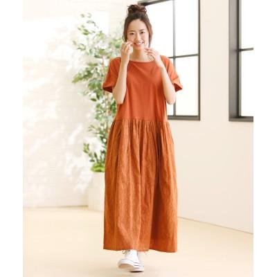 ジャガード刺しゅうロングワンピース (ワンピース)Dress