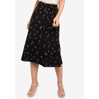 ザローラ ZALORA レディース ひざ丈スカート スカート Midi Skirt With Self Tie Black/White