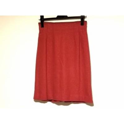 ジャスグリッティー JUSGLITTY スカート サイズ2 M レディース レッド ラメ【中古】