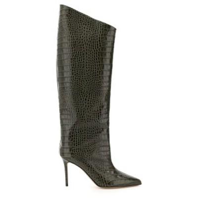 ALEXANDRE VAUTHIER/アレクサンドル ボーティエ ブーツ KHAKI Alexandre vauthier alex 90 croc embossed leather boots レディース ALEX