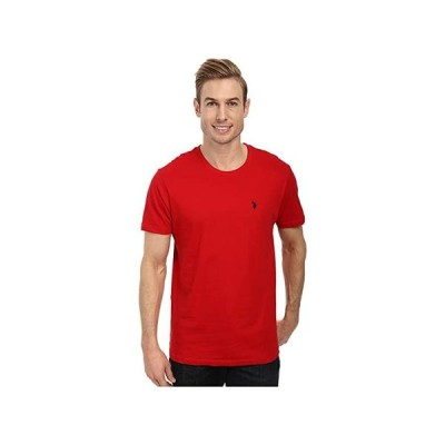 U.S. POLO ASSN. Crew Neck Small Pony T-Shirt メンズ シャツ トップス Engine Red