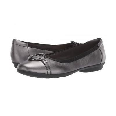 Clarks クラークス レディース 女性用 シューズ 靴 フラット Gracelin Wind - Black Metallic Leather