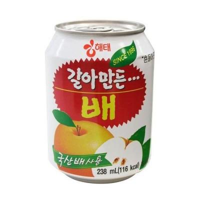 ヘテ おろし桃ジュース (缶)238ml ★韓国食品市場★韓国食材/韓国飲料/桃ボンボン/ももジュース