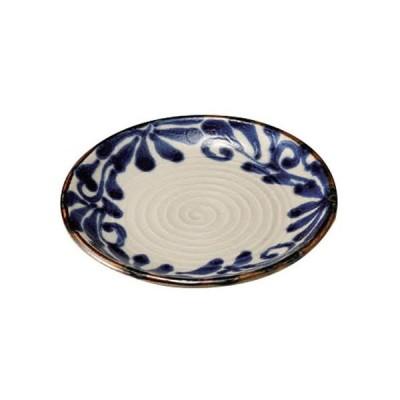 丸中皿 和食器 / 琉球るり唐草5.0皿 寸法:15.2 x 2cm