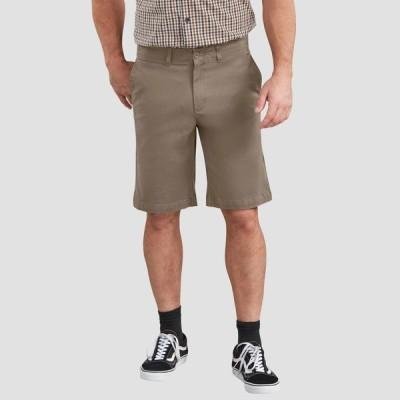 """ディッキーズ Dickies メンズ ショートパンツ ボトムス・パンツ X-Series FLEX 11"""" Active Waist Washed Chino Shorts Khaki"""