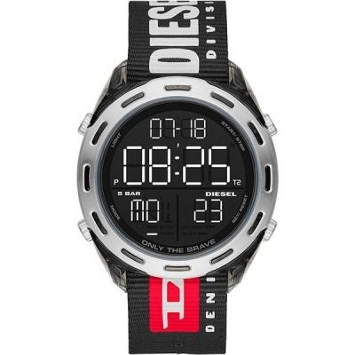 DIESEL ディーゼル CRUSHER COLLECTION ブラック ナイロン  DZ1914 デジタル メンズ 腕時計 dz1914∵