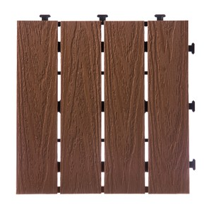 特力屋拼接踏板(9入)-塑木淺棕30x30cm