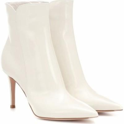 ジャンヴィト ロッシ Gianvito Rossi レディース ブーツ ショートブーツ シューズ・靴 levy 85 leather ankle boots Offwhite