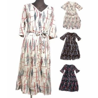Vカットエスニックワンピース エスニック衣料 エスニックアジアンファッション