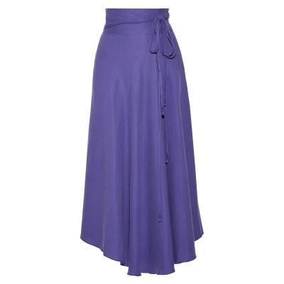 APIECE APART 7分丈スカート パープル 4 指定外繊維(テンセル)® 65% / リネン 35% 7分丈スカート