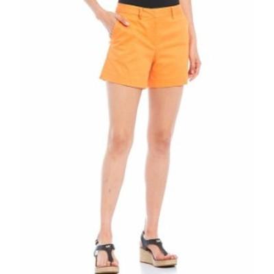 マイケルコース レディース ハーフパンツ・ショーツ ボトムス MICHAEL Michael Kors Size Classic Stretch Twill Shorts Nectarine