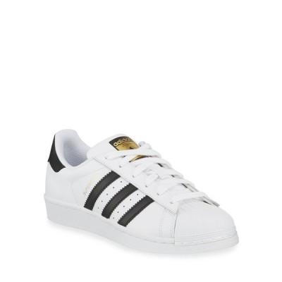 アディダス レディース スニーカー シューズ Superstar Classic Sneakers, Black/White