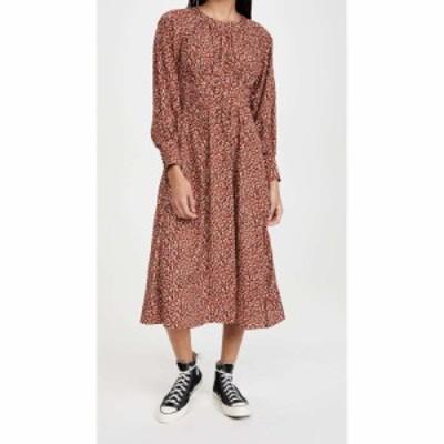 ビービーダコタ BB Dakota レディース ワンピース ミドル丈 ワンピース・ドレス Wild In Style Animal Print Midi Dress Rust