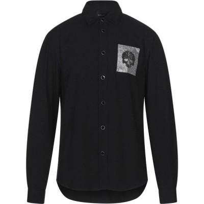 ジャスト カヴァリ JUST CAVALLI メンズ シャツ トップス Solid Color Shirt Black