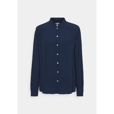 サイデンステッカー シャツ レディース トップス REGULAR FIT - Button-down blouse - navy