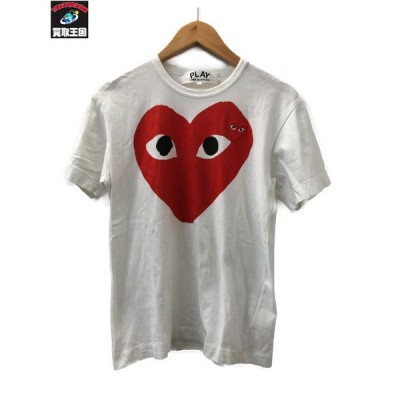 PLAY COMME des GARCONS プリント刺繍Tシャツ S 白