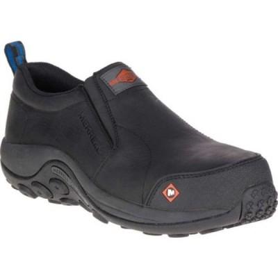 メレル Merrell Work メンズ ブーツ シューズ・靴 Jungle Moc Composite Toe Slip On Black Full Grain Leather