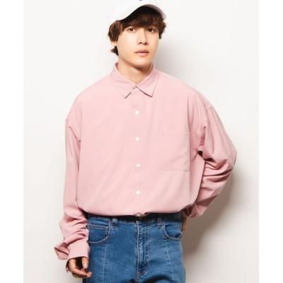 (WEGO/ウィゴー)WEGO/ビッグシルエットポプリンシャツ/メンズ ピンク