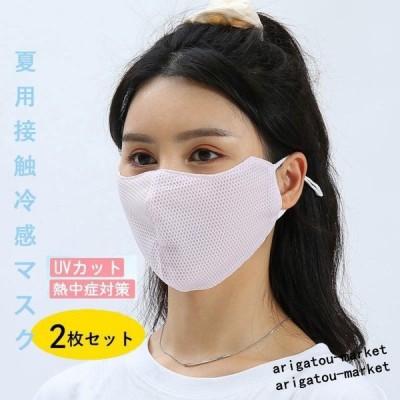 夏用マスク 冷感マスク マスク 夏用 ひんやり 涼しい 洗えるマスク 立体メッシュ(2枚入り)布マスク 夏 防菌 男女兼用 蒸れない 涼しい