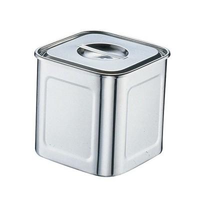 ステンレス製 深型角キッチンポット 8cm(7-0206-0101)