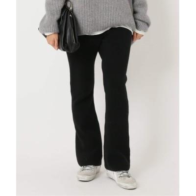 レディース ドゥーズィエム クラス Wool knit パンツ ブラック 36