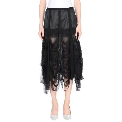 メゾン マルジェラ MAISON MARGIELA 7分丈スカート ブラック 36 ポリエステル 61% / シルク 39% 7分丈スカート