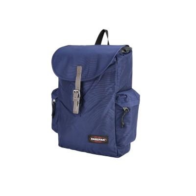 イーストパック EASTPAK バックパック&ヒップバッグ ダークブルー 紡績繊維 革 バックパック&ヒップバッグ