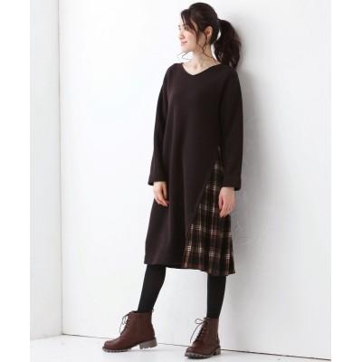 大きいサイズ 裾プリーツアシンメトリーワンピース【BLANC+】 ,スマイルランド, ワンピース, plus size dress