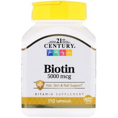 Biotin, 5,000 mcg, 110 Capsules