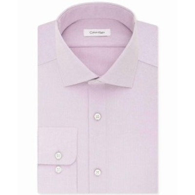Calvin Klein カルバンクライン ファッション ドレス Calvin Klein Mens Dress Shirt Purple Size 15 M Regular Fit Performance