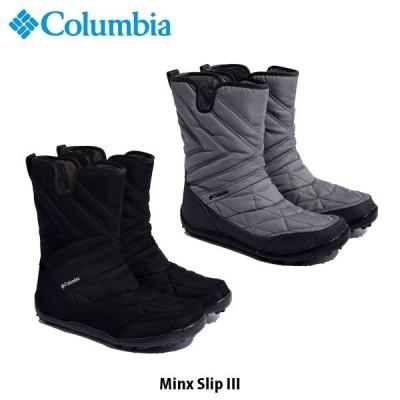 コロンビア レディース スノーブーツ ミンクス スリップ 3 アウトドア ブーツ スノーシューズ 防寒 靴 雪 雨 保温 ショートブーツ Columbia BL5959 国内正規品