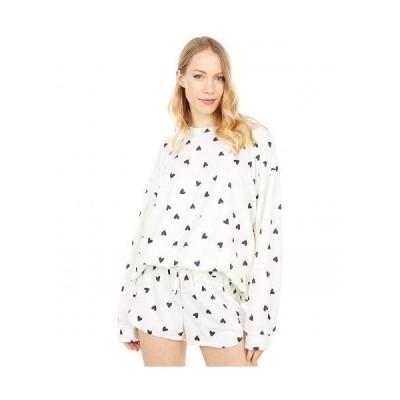Onzie オンジー レディース 女性用 ファッション パーカー スウェット Boyfriend Sweatshirt - Black Hearts