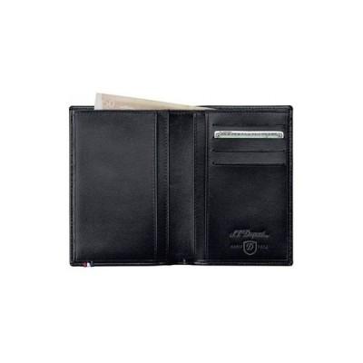 財布 St Dupont メンズ Bi fold ブラック レザー Wallet