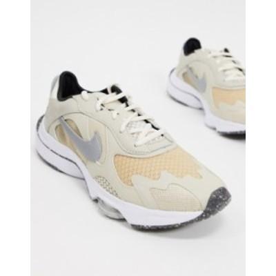 ナイキ レディース スニーカー シューズ Nike Air Zoom Division sneakers in oatmeal/metallic platinum Beige