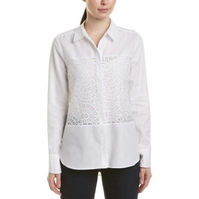 ビーシービージーマックスアズリア シャツ トップス レディース BCBGMAXAZRIA Lace Top white