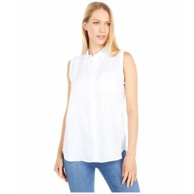 エヌワイディージェイ シャツ トップス レディース Sleeveless Camp Shirt Optic White