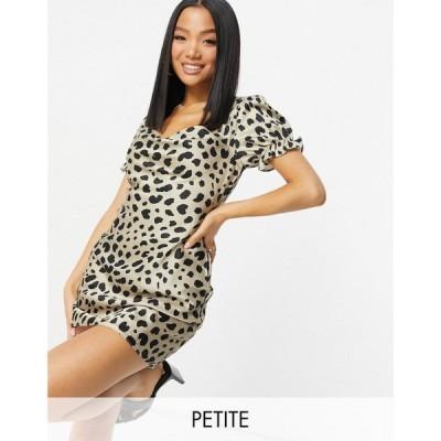 ミスガイデッド Missguided Petite レディース ワンピース ミニ丈 ワンピース・ドレス Satin Mini Dress In Dalmatian マルチカラー