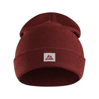 リサイクルポリエステル ビーニーニット 帽子 レッド 赤