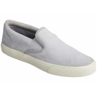 スペリー メンズ スニーカー シューズ Striper Plushwave Slip-On Grey