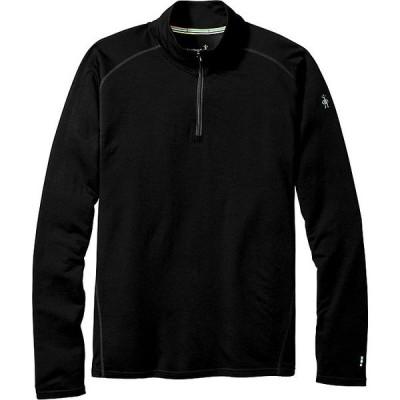 スマートウール トップス メンズ フィットネス Smartwool Men's Merino 150 Baselayer 1/4 Zip Top Black