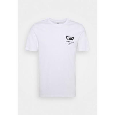 リーバイス Tシャツ メンズ トップス HOUSEMARK GRAPHIC TEE UNISEX - Print T-shirt - left chest batwing white