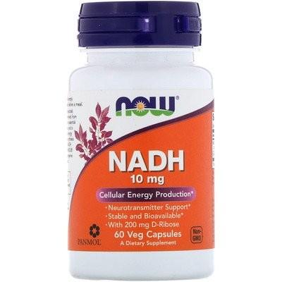 NADH、10 mg、ベジタリアンカプセル60錠