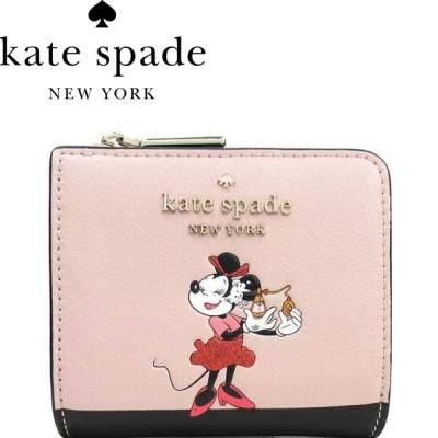 ケイトスペード Kate Spade 2020年モデル ミニー コラボ 折りたたみ 二つ折り 財布