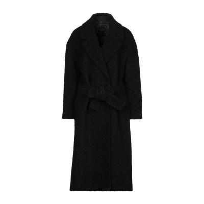 PALTÒ コート ブラック 40 アクリル 54% / モヘヤ 16% / 毛(アルパカ) 16% / ウール 13% / コットン 1% コート