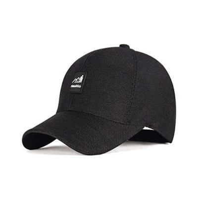 Hawkko キャップ 帽子 メンズ 無地 シンプル レディース 男女兼用 スポーツ ランニング 釣り 山登り (ブラック)